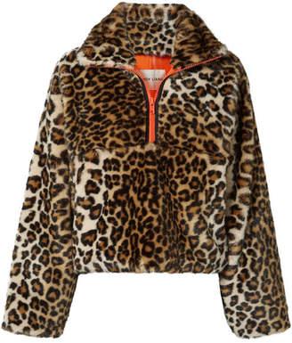 Sandy Liang - Garbanzo Leopard-print Faux Fur Jacket - Brown