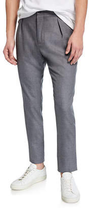 Marco Pescarolo Men's Heathered Wool Pleated Pants, Gray