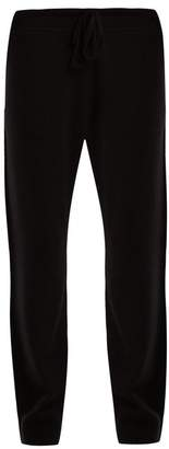 Vince Tapered Leg Wool Blend Track Pants - Womens - Black
