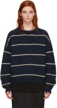 Acne Studios Navy Striped Rhira Sweater