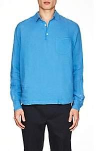 Barena Venezia Men's Linen Long-Sleeve Shirt-Blue