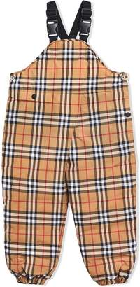 Burberry TEEN Showerproof Vintage Check Down-filled Dungarees