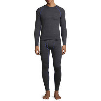 Fruit of the Loom Breathable Mesh Crew Neck Long Sleeve Thermal Shirt Tall