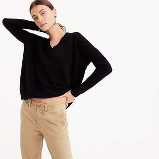 J.Crew V-neck Boyfriend sweater in everyday cashmere
