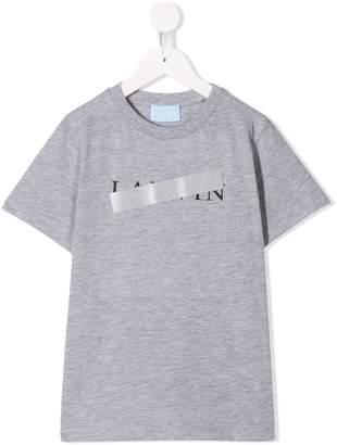 Lanvin Enfant logo patch T-shirt
