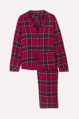 Rails Checked Flannel Pajama Set - Red