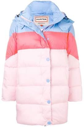 Hunter colour block padded coat