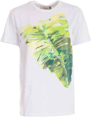 Blugirl Leaves Print T-shirt