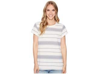 True Grit Dylan by Maritime Yarn-Dye Stripe Short Sleeve Classic Crew Women's T Shirt