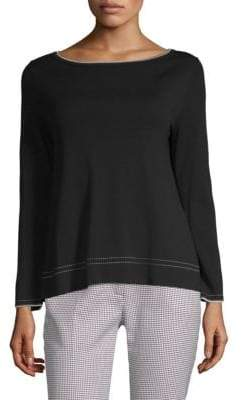 Max Mara Limosa Contrast-Trimmed Knit Sweater