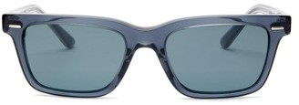 The Row X Oliver Peoples Ba Cc Rectangular Sunglasses - Womens - Blue