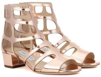 Jimmy Choo Ren 35 metallic leather sandals