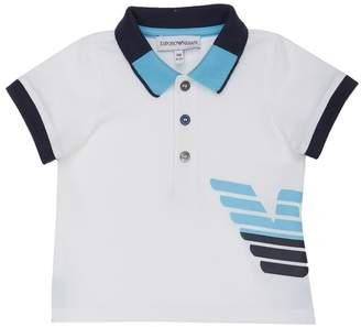 Armani Junior Logo Graphic Polo