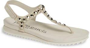 Pedro Garcia Crystal Embellished T-Strap Sandal