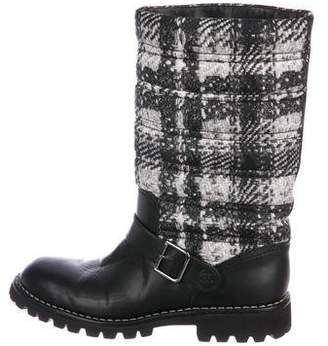 Chanel Quilted Mid-Calf Boots