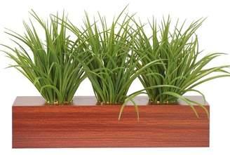 Orren Ellis Desktop Grass in Planter