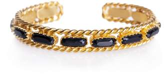 Christina Greene - Cable Bangle in Black Onyx