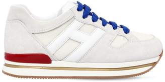 Hogan 50mm H222 Suede & Leather Sneakers