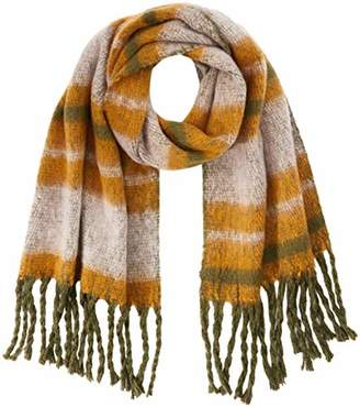 Pieces Women's Pcfrysmin Long Scarf Box Multicolour Winter Moss)