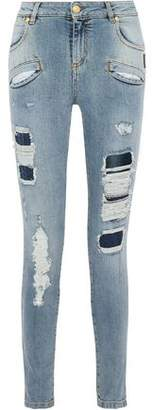 Pierre Balmain Distressed High-Rise Skinny Jeans