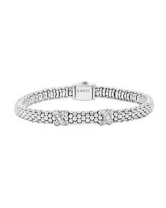 Lagos Diamond Double-X Station Bracelet