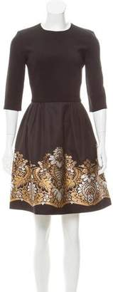 Martin Grant Metallic-Accented Pleated Dress w/ Tags