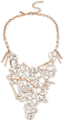INC International Concepts Rose Gold-Tone Crystal Statement Necklace, Only at Macy's $69.50 thestylecure.com