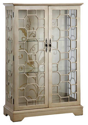 Stein World Cosmopolitan Lighted Curio Cabinet