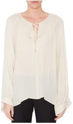 Nili Lotan Acadia White Silk Blouse