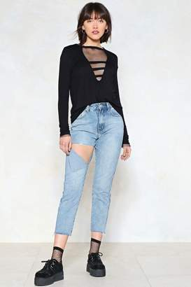 Nasty Gal Busted Distressed Jeans