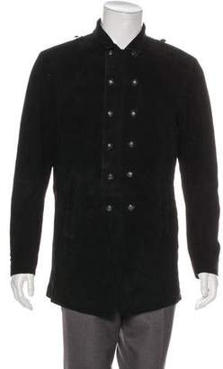 John Varvatos Suede Double-Breasted Coat w/ Tags
