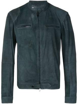 Desa 1972 fitted leather jacket