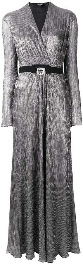 Just Cavalli belted shimmer long dress