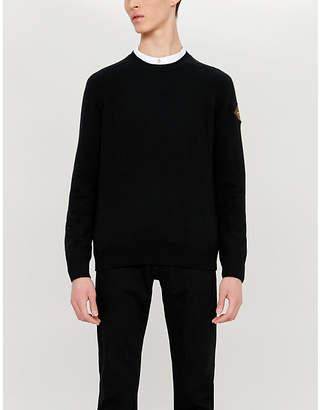 Saint Laurent Badge sleeve cashmere jumper