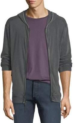 John Varvatos Men's Waffle-Knit Zip-Front Hoodie