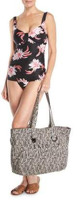 Seafolly Carried Away Luxe Eyelet Beach Tote Bag