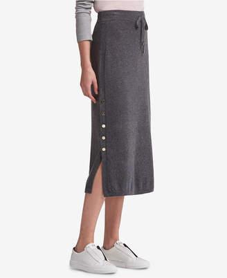 DKNY Side-Slit Sweater Skirt