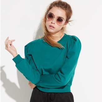 k / lab k/lab Green Crop Sweatshirt