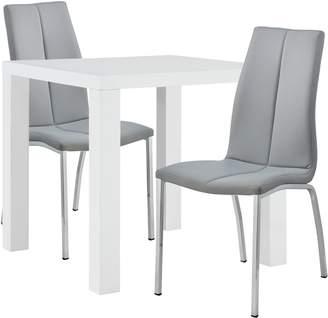 2ec9353fb780 Argos Home Lyssa Dining Table   2 Milo Chairs