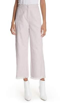 Rebecca Taylor Slub Crop Pants
