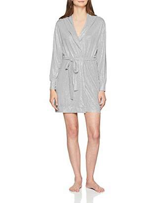 Dorothy Perkins Women's Robe Dressing Gown, (Grey 150), Small (Size:S)