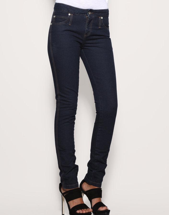 Asos High Waisted Indigo Slim Jeans