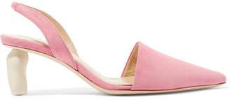 REJINA PYO Conie Suede Slingback Pumps - Pink