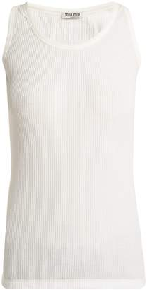 Miu Miu Ribbed cotton tank top
