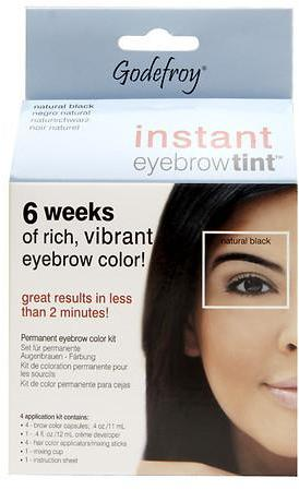 Godefroy Instant Eyebrow Tint Permanent Eyebrow Color Kit