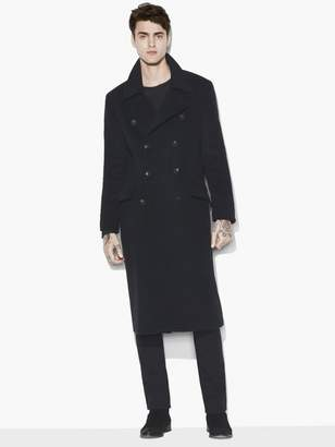 John Varvatos Double Breasted Military Coat