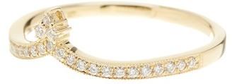 Bony Levy 18K Yellow Gold Pave Diamond Tiara Ring - Size 6.5 - 0.16 ctw $950 thestylecure.com