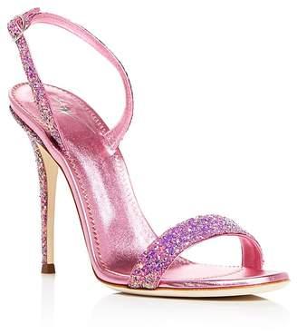 Giuseppe Zanotti Women's Glittered Leather Slingback High-Heel Sandals - 100% Exclusive