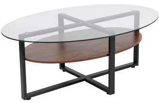 Flash Furniture Princeton Collection Coffee Table with Wood Finish and Metal Legs