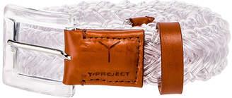 Y/Project Transparent Braided Belt in Transparent   FWRD